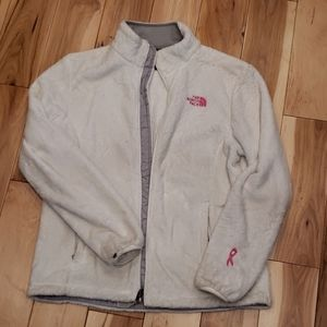 North Face White Shell Fleece Jacket